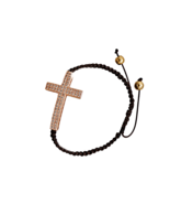 Adjustable Brown Macrame Fashion Bracelet with ... - $15.97