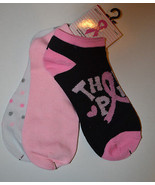 Breast Cancer 3 pack   No Show Sock Size 9-11 NWT Think Pink  - $9.99