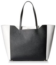 Furla Women's Fantasia M Tote East/West Vit. Stampa Ariel Double, Onyx, ... - $324.72