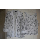 R & M Richards New White/Black Sequined Contrast Lace Jacket & Top   14 - $79.19