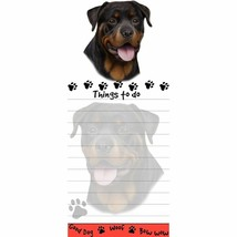 ROTTWEILER DOG DIECUT LIST PAD NOTES NOTEPAD Magnetic Magnet Refrigerator - $7.99