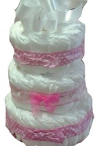 3 Tier Bow Diaper Cake in pink, blue, yellow,green, & purple - $75.99+