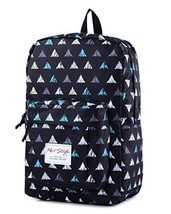Back To School Backpack Bookbag Triangle Pattern 15 inch Laptop Travel D... - $47.08