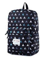 Back To School Backpack Bookbag Triangle Pattern 15 inch Laptop Travel D... - £35.32 GBP