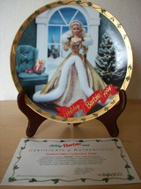 1994 Barbie Enesco Christmas Limited Edition Collector's Plate - $25.00