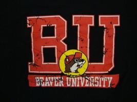 Buc-Ee's Beaver University BU Rest Stop Souvenir Black T Shirt L - $17.27