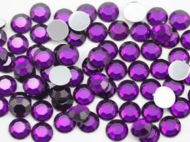 3mm SS12 Purple Amethyst A06 Acrylic Rhinestones - 200 PCS - $4.87