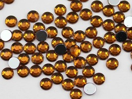 3mm SS12 Brown Smokey Topaz A22 Acrylic Rhinestones - 200 PCS - $4.87