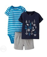 NEW Infant Baby Boys 9m Carter's 3 Piece Outfit... - $9.99