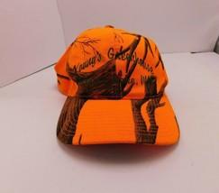 Yupoong Youngs Greenhouse Sturgeon Hat Cap Strapback Orange Brown  Lake MN - $9.61