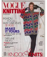 Vogue Knitting Magazine Fall 1991 Designer Patt... - $8.75