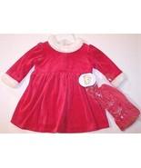 NWT All Mine Mrs. Santa Claus Velour Dress & Ca... - $14.99