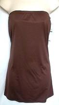 DKNY COGNAC/BLK BANDEAU BEACH DRESS, SIZE MEDIUM MSRP $108 - $18.95