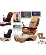 Quality Acetone Proof Full Function Chocolate Pedicure Spa Massage Chair... - $2,074.05