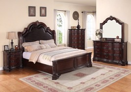 Crown Mark RB1100 Sheffield king Size Bedroom Set 5pc. Traditional Style - €2.523,92 EUR