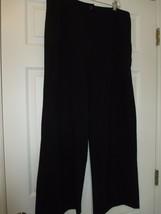 Isaac Mizrah Black Pants Flat Front Size 14 - $24.99