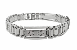 14k White Gold Men's Bracelet With Stars - $1,140.00