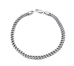 14k White Gold Men's Franco Bracelet - $525.00