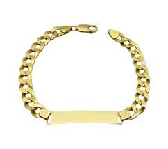 14k Yellow Gold Solid ID Bracelet  - $935.00