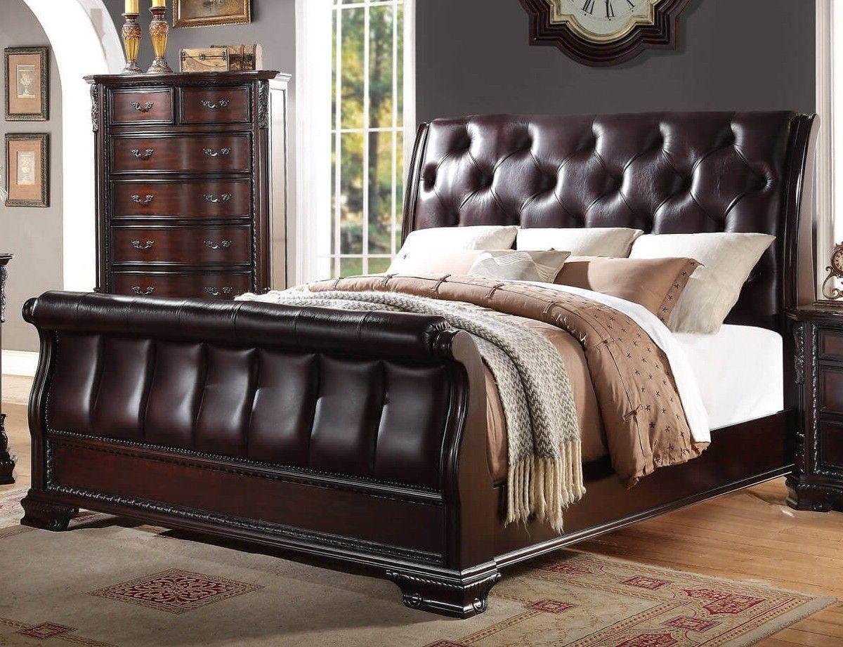 crown mark rb1150 sheffield sleigh king size bedroom set