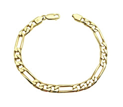 14k Yellow Gold Figaro Link Men's Bracelet - $765.00