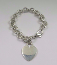 Tiffany & Co.  Sterling Silver With Heart Charm Bracelet - $129.99