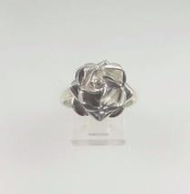 Sterling Silver 925 Women's Rose Flower Ring - $66.00