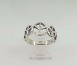 Sterling Silver 925 Piece Sign Ring - $35.00
