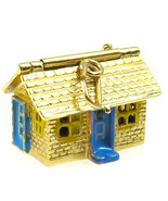 14k Yellow Gold Enamel Big House 3D Charm - $375.00
