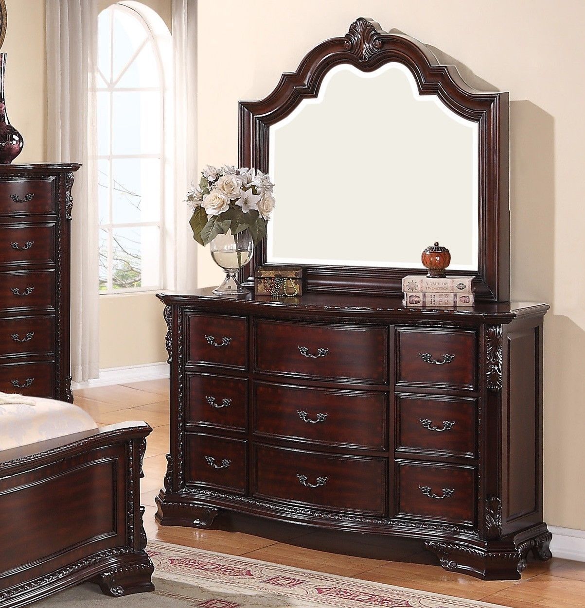 crown mark rb1100 sheffield queen size bedroom set 5pc traditional style bedroom sets. Black Bedroom Furniture Sets. Home Design Ideas