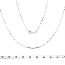 1.2mm Men/Women's 925 Sterling Silver Flat Boston Cardano Link Chain Ita... - $27.51+