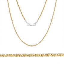 1.7mm Men/Womens Stylish 14K YG Covered 925 Silver Twist Rope Link Italian Chain - $26.68+