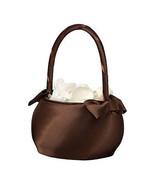 Wedding Flower Girl Basket Chocolate Brown Flow... - $8.89