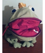 Large plush frog prince with storage mouth - $10.00