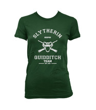 KEEPER Old Slytherin quidditch team Women tee Forest Green S to 3XL - $20.00 - $23.00