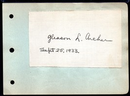 GLEASON ARCHER Autograph - nicely signed ink signature,found Suffolk Uni... - $22.28