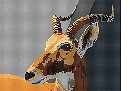 Antelope (Large) Needlepoint Kit - $118.80