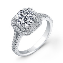 2.39CTW Amazing 14K WG Round Cut Halo Diamond Solitaire Wedding Engageme... - $685.38