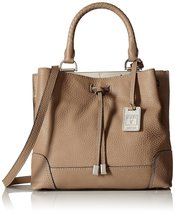 FRYE Fay Small Drawstring Framed Bag, Grey, One Size - $242.25