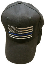Black USA Police Thin Blue Line Cap Hat Support Law Enforcement 100% Cotton - $19.88