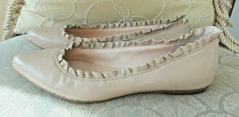 Kate Spade New York Nicole Womens Flats Shoes W/ Ruffle Light Pink Size 8.5 - $38.00