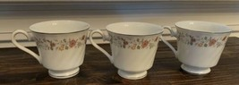 Vintage Sheffield Bouquet Fine China 6 oz Tea Cup Set Of Three - $27.10