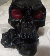 "skull candle with rose scented wicca candle 5"" long different colors ava... - $13.95"