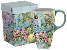 Lang Basket Of Flowers Latte Mug by Marjolein B... - $23.99