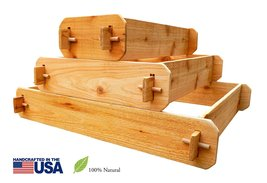 Timberlane Gardens Raised Bed Kit 3 Tiered Pyramid (1x3 2x3 3x3) Western Red Ced - $100.00