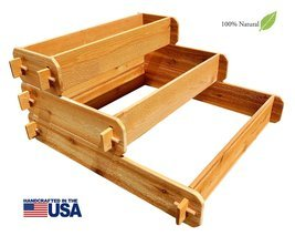 Timberlane Gardens Raised Bed Kit 3 Tiered (1x3 2x3 3x3) Western Red Ced... - £69.52 GBP