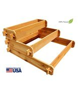 Timberlane Gardens Raised Bed Kit 3 Tiered (1x3 2x3 3x3) Western Red Ced... - £93.72 GBP