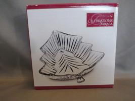 Mikasa Crystal Chrimas Night Collection 6 inch Tree Dish Celebrations Line - $5.99