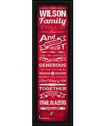 "Personalized Portland Trailblazers - 24 x 8 ""Family Cheer"" Framed Print - $39.95"