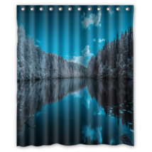 Forest Lake Shower Curtain Waterproof Made From Polyester - $29.07+